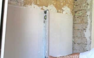 Как правильно приклеить гипсокартон к стене