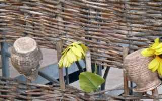 Украшение и польза: как сделать плетень своими руками?