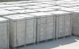 Количество пенобетонных блоков 200х300х600 в 1м3 и поддоне
