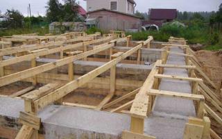 Опалубка для фундамента — личный опыт строительства