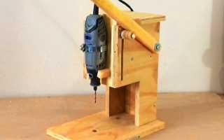 2 способа сборки сверлильной стойки для дрели своими руками