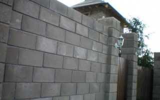 Строительство забора на даче из шлакоблоков