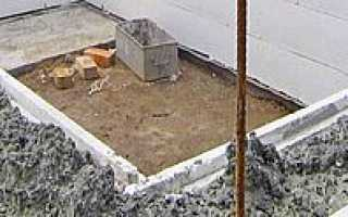 Несъемная опалубка для фундамента из пенополистирола и бетона
