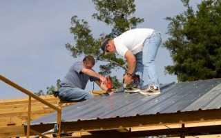 Как крепить на крышу профнастил? Укладка профнастила на крышу