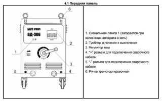 Сфера применения и технические параметры сварочного аппарата ВД 306