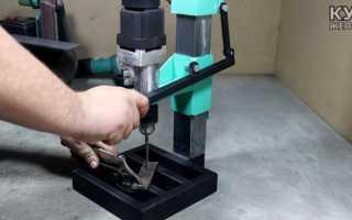 Самодельный сверлильный станок по металлу своими руками