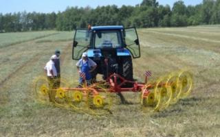 Тракторные грабли – незаменимый помощник при заготовке сена