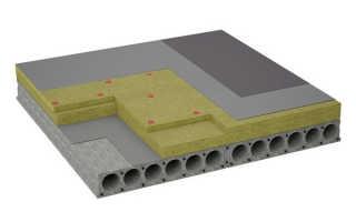 Пароизоляция полимерная на бетонное основание крепление