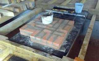 Фундамент под печку в бане своими руками
