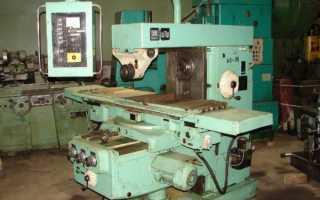 Устройство и технические характеристики горизонтально-фрезерного станка