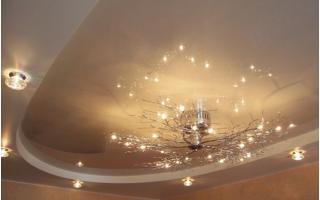 Натяжной потолок: виды материалов