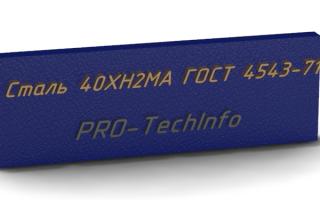 ГОСТ 4543-71Прокат из легированной конструкционной стали. Технические условия