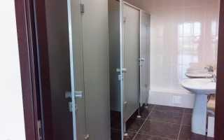 Размеры сантехнических перегородок для душевых