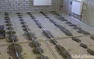 Устройство цементно-песчаной стяжки пола
