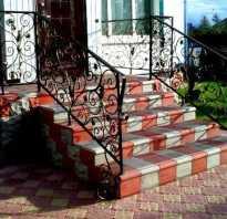 Крыльцо из тротуарной плитки: 2 способа сооружения ступеней