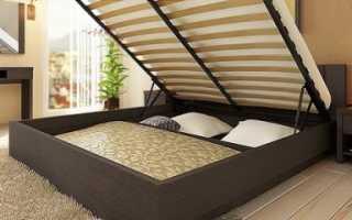Как сделать большую двуспальную подъемную кровать