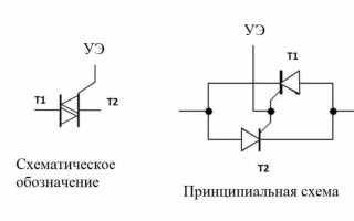 Простые способы проверки симисторов и тиристоров