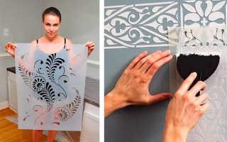 Как делать трафареты для декоративной штукатурки