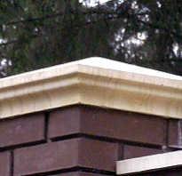 Бетонные, деревянные и битумные колпаки на столбы забора
