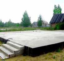 Использование плит перекрытия для возведения фундамента дома