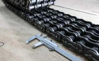 Размеры приводной роликовой цепи и ее конструкция