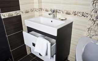 Советы по установке в ванной раковины с тумбой