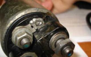 Как проверить втягивающее реле стартера аккумулятором или контрольной лампой