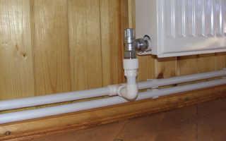 Двухтрубная система отопления с нижней разводкой из полипропилена