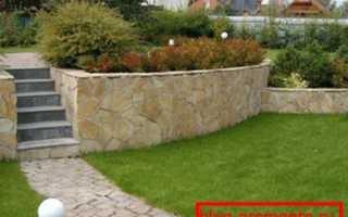 Подпорные стенки из бетона: технология возведения от