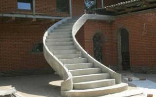 Лестница из бетона на второй этаж в частном доме