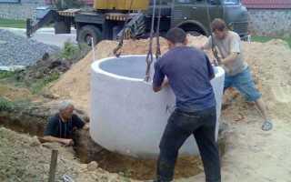 Строительство колодца из бетонных колец: параметры и этапы монтажа
