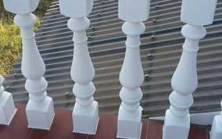 Где применяются и как изготавливаются балясины из из бетона
