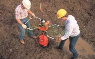 Ручные бензиновые ямобуры – их устройство и принцип действия