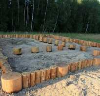 Столбчатый фундамент из лиственницы для дома. Фундамент из бревен