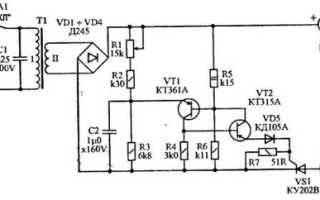 Характеристики и схема включения тиристора КУ202Н