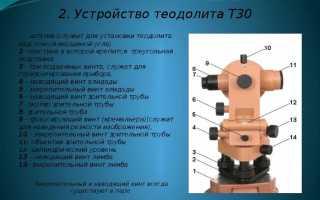 Теодолит: устройство, назначение, разновидности