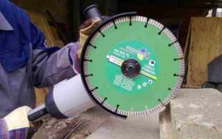 Условия эффективного применения алмазных отрезных дисков