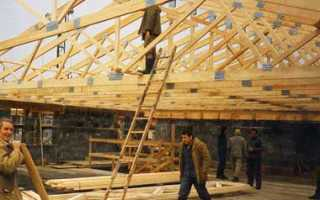 Конструкции наслонных стропил: несущие конструкции скатной крыши