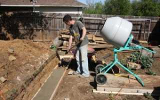 Как залить фундамент с помощью бетономешалки своими руками