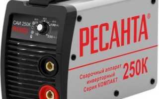 Полная характеристика инверторного сварочного аппарата «Ресанта» САИ-250