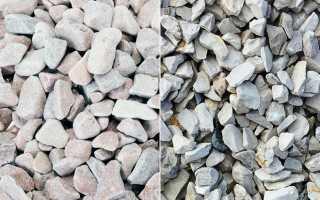 Чем отличается гравий от щебня, и что выбрать