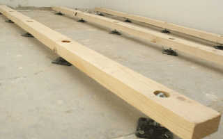 Как выполнить крепление лаг к бетонному полу?