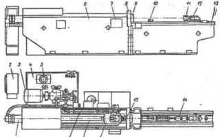§ 6. ГОРИЗОНТАЛЬНО-ПРОТЯЖНОЙ СТАНОК 7Б55. Техническая характеристика.