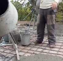 Соотношение компонентов для заливки бетонных перекрытий