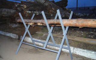 Козел для распиловки дров своими руками
