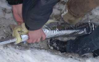 Как утеплить на даче водопровод из колодца?